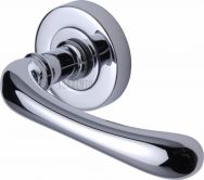 Donna lever on rose handle in polished chrome