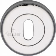 Sorrento Polished Chrome Keyhole Escutcheon