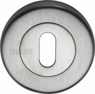 Sorrento Satin Chrome Keyhole Escutcheon