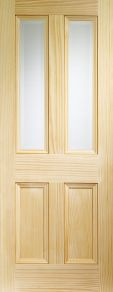 XL Edwardian Pine Door with clear bevelled glass