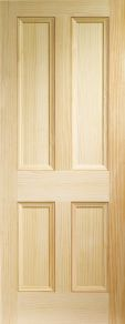 XL Edwardian 4 Panel Pine Door