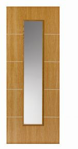 JB Kind Louvre Painted Flush Oak Internal Door