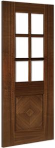 Deanta Kensington Glazed Walnut Internal Door