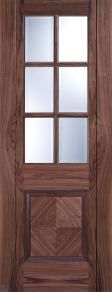 LPD Barcelona Walnut Glazed Door