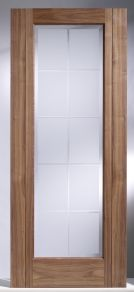 LPD Seville Walnut Glazed Internal Door