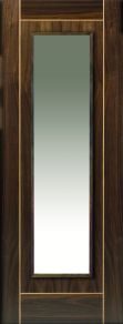 JB Kind Valcor Glazed Walnut Flush Internal Door