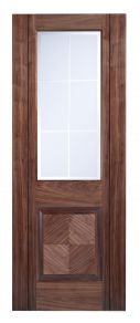 LPD Valencia Glazed Walnut Internal Door