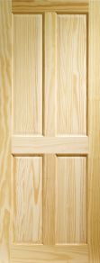 XL Victorian 4 Panel Clear Pine Internal Door