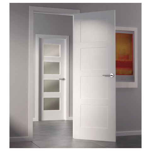 9400ar sanrafael 4 panel white door sanrafael doors for Puertas de paso modernas
