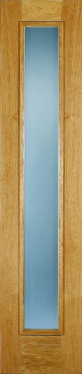 Oak Frosted Sidelight for External Doors