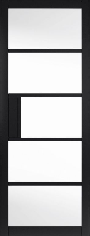 JB Kind City Metro Black Clear Glass Prefinished Internal Door