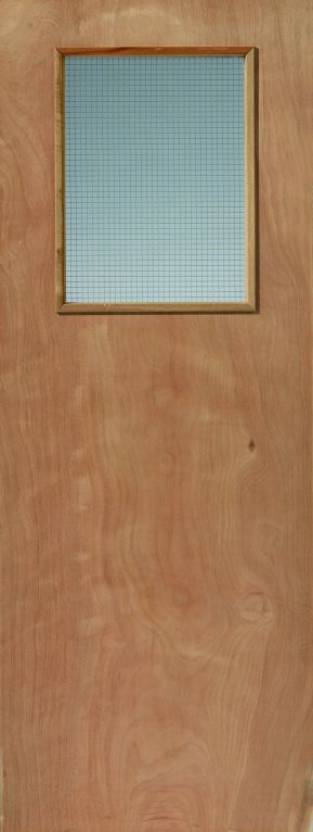 JB Kind Plywood Flush Firedoor with 1 Glazed Opening