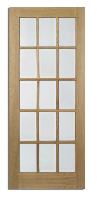 lpd sa 15l 15 panel glazed oak door glazed oak doors