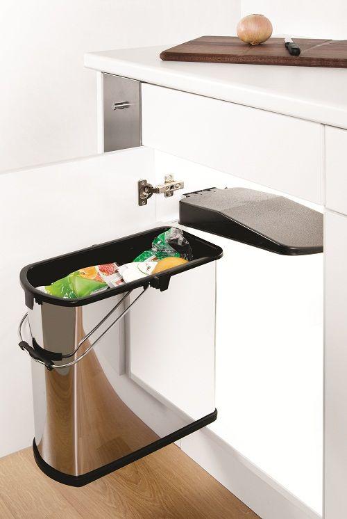 Door Mounted Kitchen Waste Basket