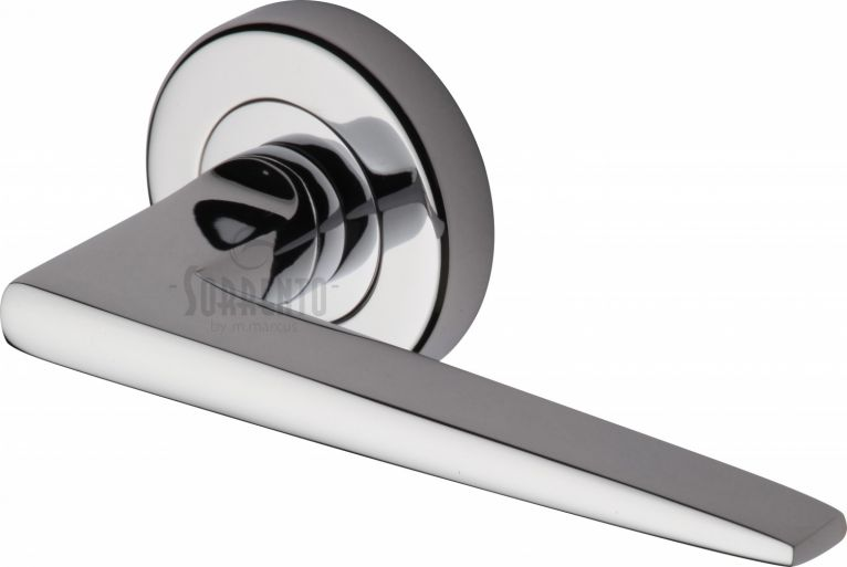 Swift lever on rose handle in polished chrome
