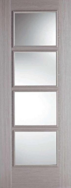 LPD Light Grey Vancouver 4L glazed internal door