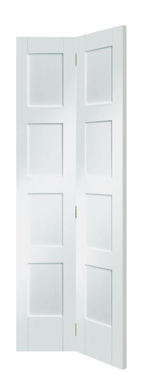 Shaker 4 Panel White Bi Fold Door Bi Fold Doors