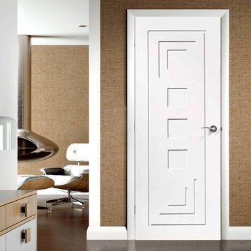 Xl Altino White Primed Glazed Internal Door White Doors