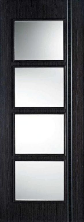 LPD Ash Grey Zanzibar glazed internal door  - 838 x 1981 x 35mm